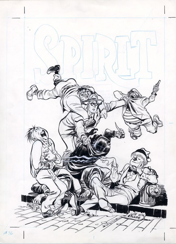 Original cover art by Will Eisner from The Spirit #36, published by Kitchen Sink Press, October 1987.