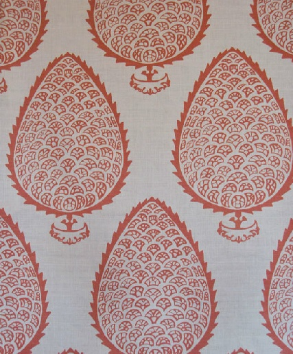 Leaf in Ginger from Katie Ridder #fabric #orange