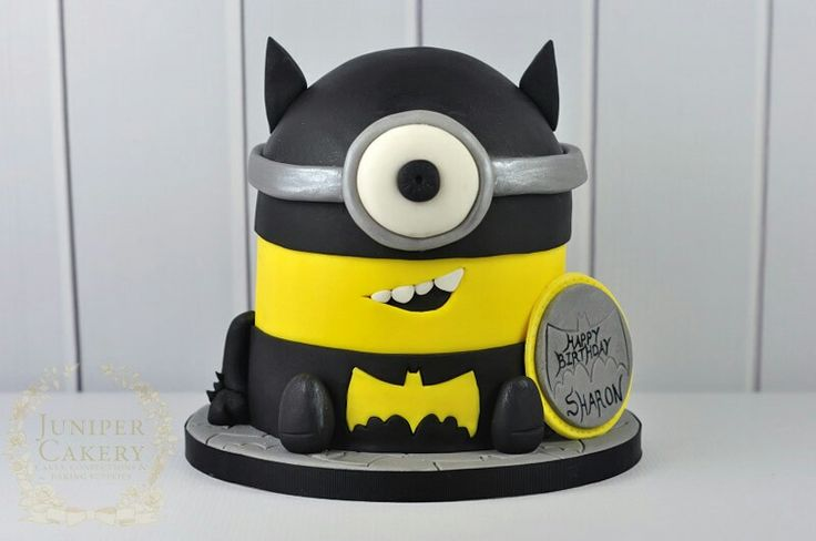 How cute is this minion batman cake