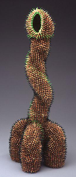 Jennifer Maestre   'Chimera'  pencil sculpture   http://www.jennifermaestre.com/images/port/pencils/p_chimera_full.jpg