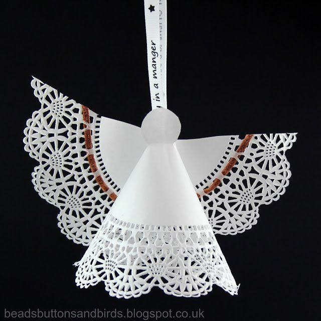 beads buttons & birds: Angel Doily