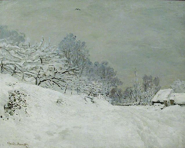 Snow Near Honfleur, 1867, Claude Monet