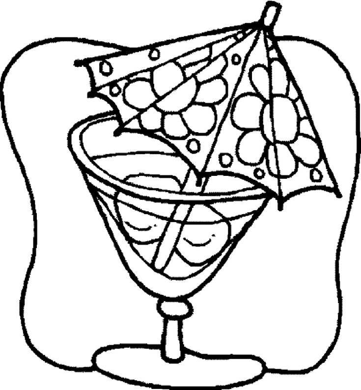 28 best Drinks Coloring Pages images on Pinterest  Colouring