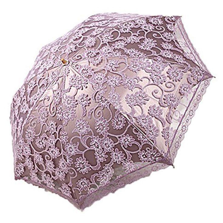Princess Sun Umbrella Lace Parasol Chuvas Arqueado UV Criativo Dobrável Pongee Ensolarado Guarda chuva Guarda chuva Uv Personalizado das Mulheres em Guarda-chuvas de Home & Garden no AliExpress.com | Alibaba Group