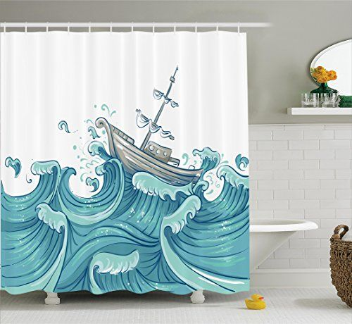 Nautical Decor Shower Curtain Set By Ambesonne, Illustrat... https://smile.amazon.com/dp/B01L035H58/ref=cm_sw_r_pi_dp_x_8fFkzbQX2YCVT