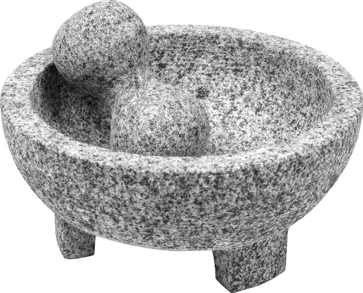 "Features:  -Mortar and pestle.  -Material: Granite.  -Grind herbs and spices.  Product Type: -Mortar And Pestle Set.  Color: -Grey.  Power: -Manual.  Usage: -Table Top. Dimensions:  -Inner rim: 7.5"" d"