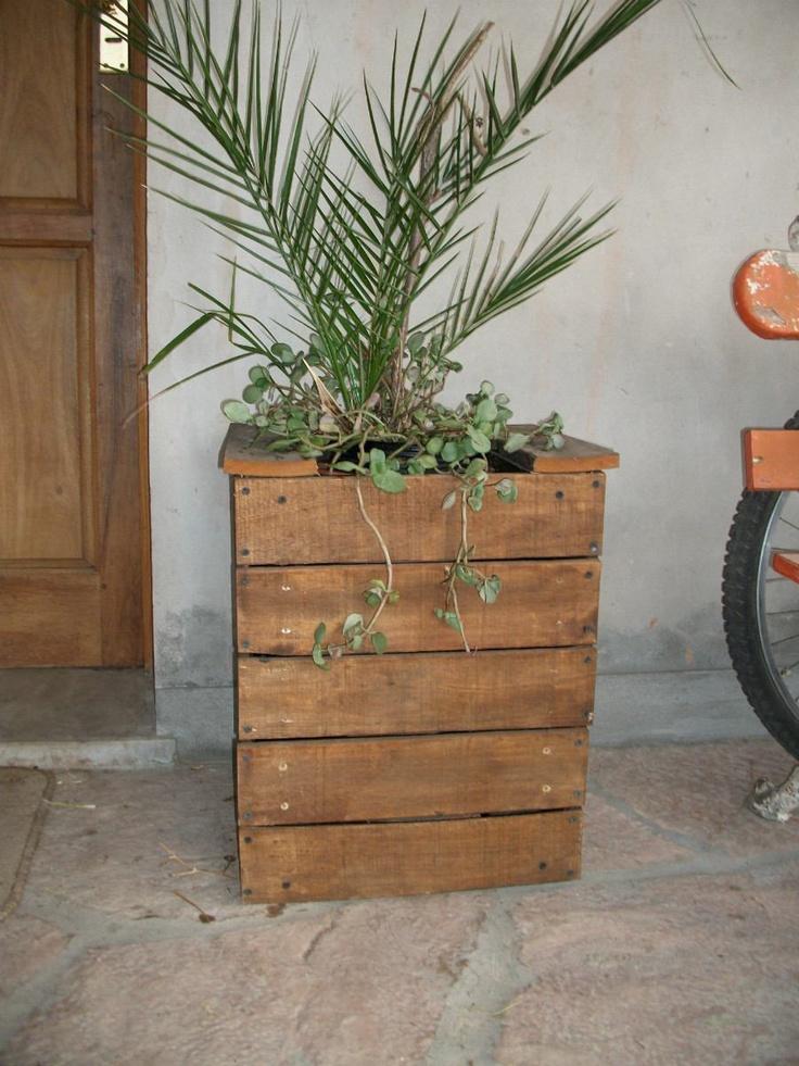 Maceta maceton macetero de madera - Jardineras con palets de madera ...