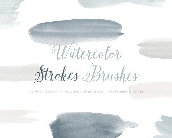 Watercolor Photoshop Brushes Abr By By Lef On Creativemarket