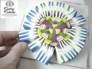 Fimo Cristalline - Passion Flower Cane Tutorial