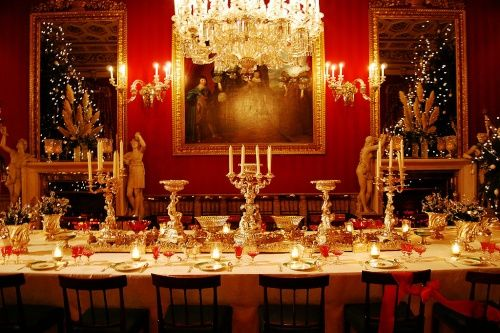 Chatsworth House- Dining room at Christmas