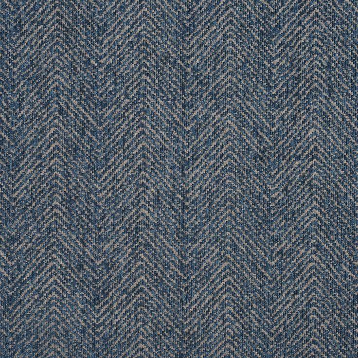 E734 Aqua Blue Herringbone Woven Textured Upholstery Fabric By The Yard