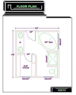 Small Master Bathroom Floor Plans Master Bath Floor Plan