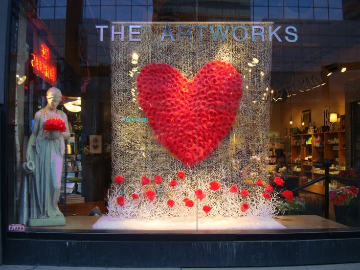 valentine's day window paintings