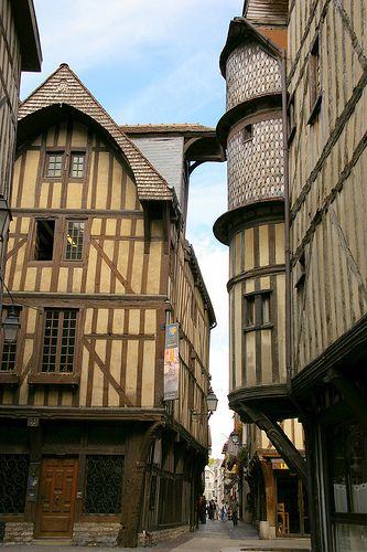 Streets of Troyes, France