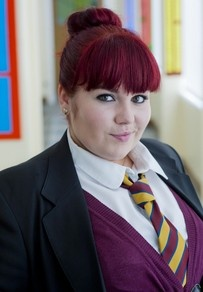Former Rochdale pupil Rhiannon is determined not to be the invisible member of the gang any longer. Manipulative and feisty she isn't afraid to speak her mind but can also turn the charm on when needed. Who exactly will she have to stand on to get noticed? (Rebecca Craven)