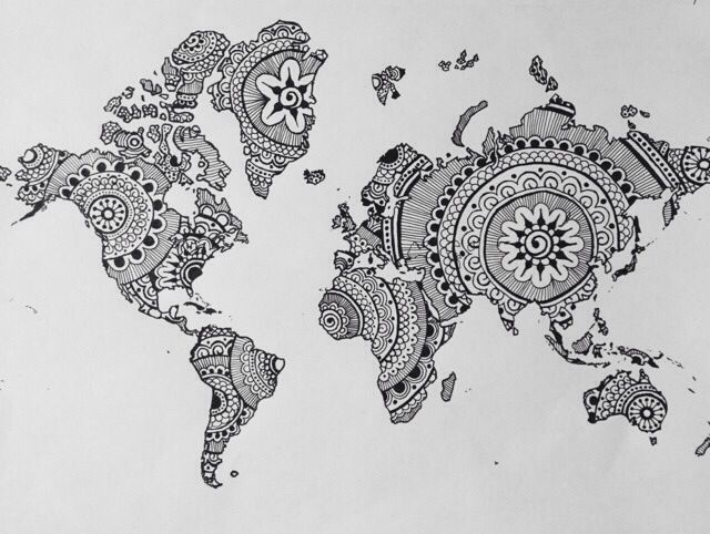 Want to do this! Just print a black/white picture of a map then draw inside!