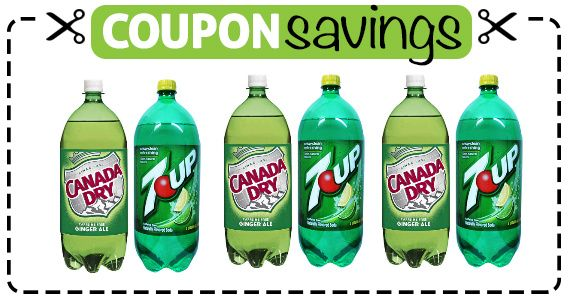 #Save $1 on 7Up or Canada Dry Bottles! #coupon #grocery #pop #softdrink