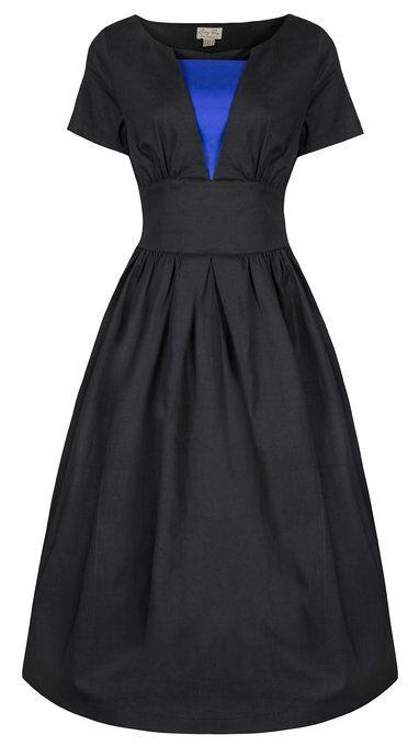 Lindy Bop 'Georgia' Chic Vintage 1950 Style Robe évasée Travail Désinvolte Dress: Amazon.fr: Vêtements et accessoires