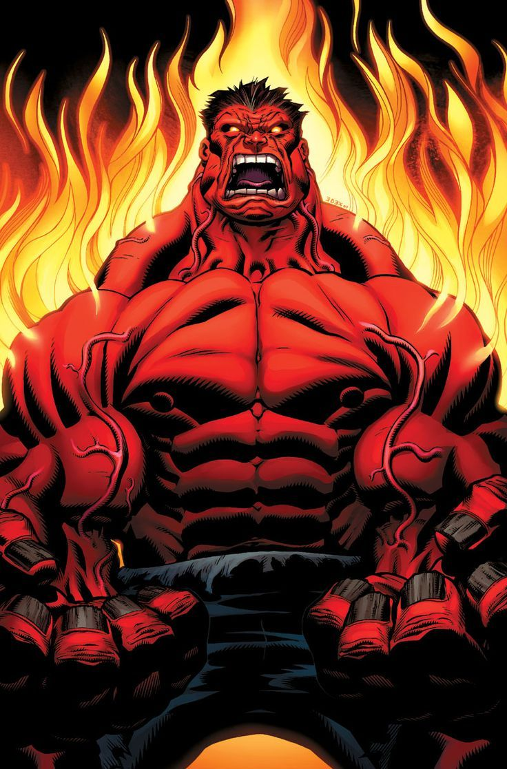 Red Hulk Wallpapers Desktop (With images) Hulk art, Red