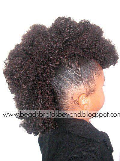 Cute Little Girl Fro Hawk Hairstyle