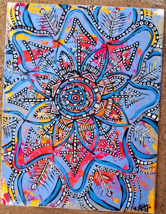 Mandala: A Primitive Journey Original Meditative Art