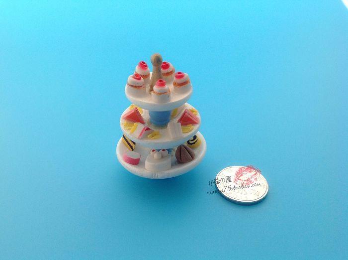 1:12 кукольный домик сцены модель кукольный домик мини-пирожные башня ювелирных аксессуаров - Taobao