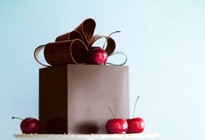 Bill Yosses Black forest cake recipe- the White House pastry chef, made a Black Forest cake in a chocolate box.