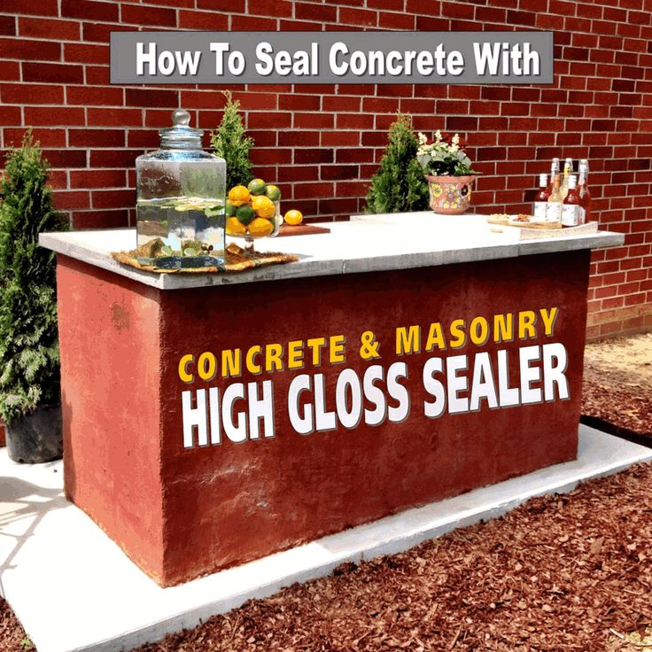 How To Seal Outdoor Concrete Countertops With Quikrete