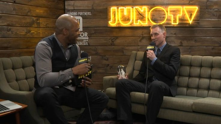 Mike Downes- Backstage at the 2014 JUNO Awards