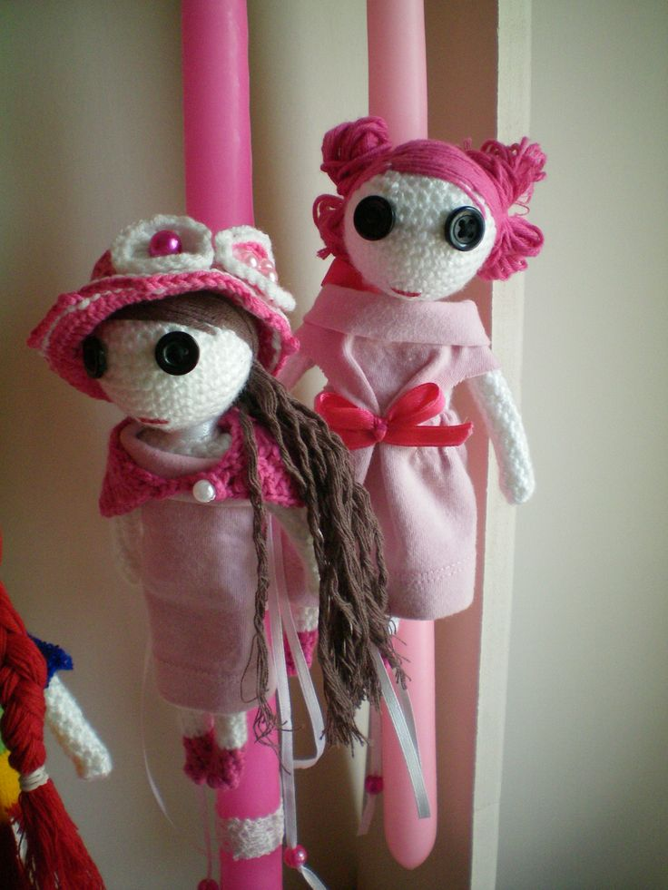 crochet dolls for easter candles