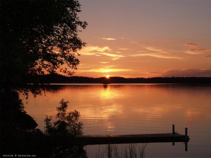 Finland mid-summer midnight sun