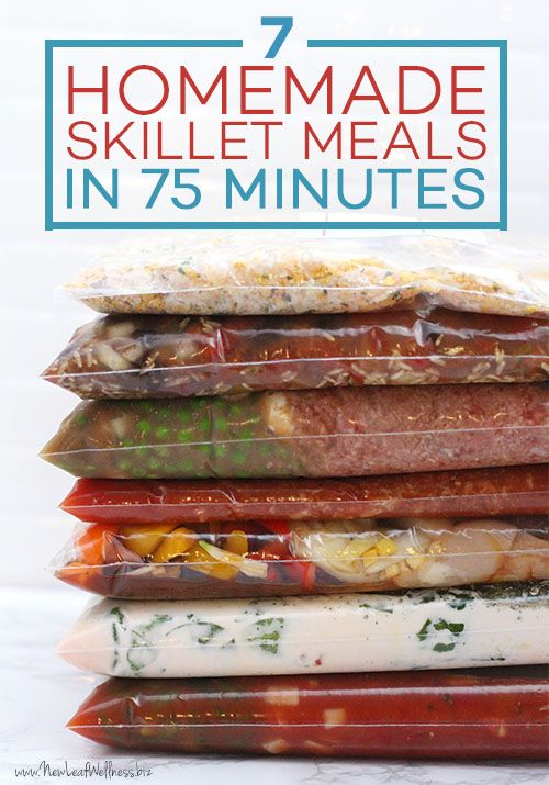 7 Freezer-to-Skillet Meals in 75 Minutes                                                                                                                                                                                 More