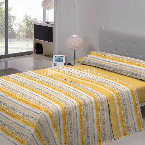 Juego de Sábanas RODAS Javier Larrainzar. Presenta colores estivales como el amarillo o el azul, con los que llenarás de vida tu habitación. Anímate al cambio y renueva tu ropa de cama con este nuevo diseño de Javier Larrainzar.