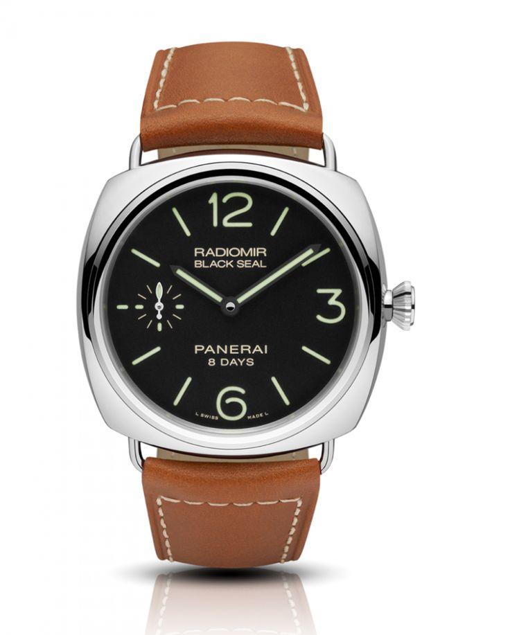 Officine Panerai PAM00609 Radiomir Black Seal 8 Days Acciaio - 45 mm -  - швейцарские мужские наручные часы - белые, черные часы
