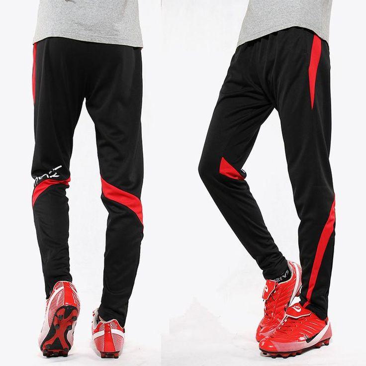 18 Men Soccer Training Pants Sports jogging survetement football Running Pant Slim Skinny trousers Leg Quick-drying zipper