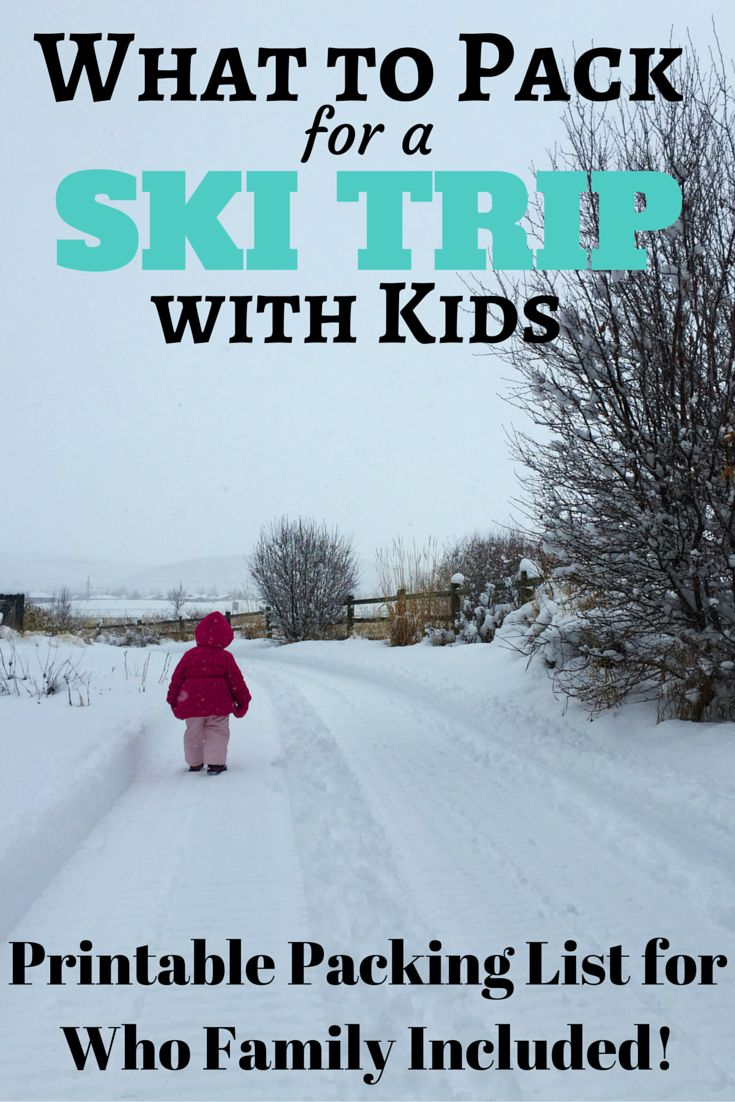 What to Pack for a Ski Trip with Kids: The Complete Ski Trip Packing List + Printable Download so you won't need to worry about what to pack for your next ski trip!