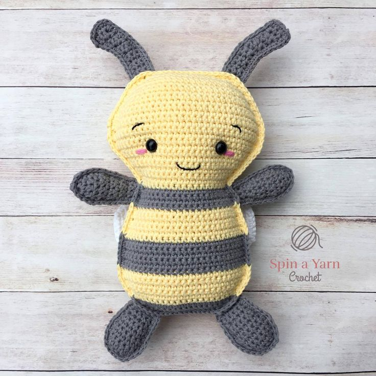 Bumble Bee Ragdoll--free pattern from Spin A Yarn.