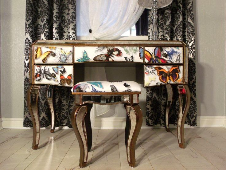 Fabric Dressing Table ~ Butterfly by christian lacroix fabric a unique dressing