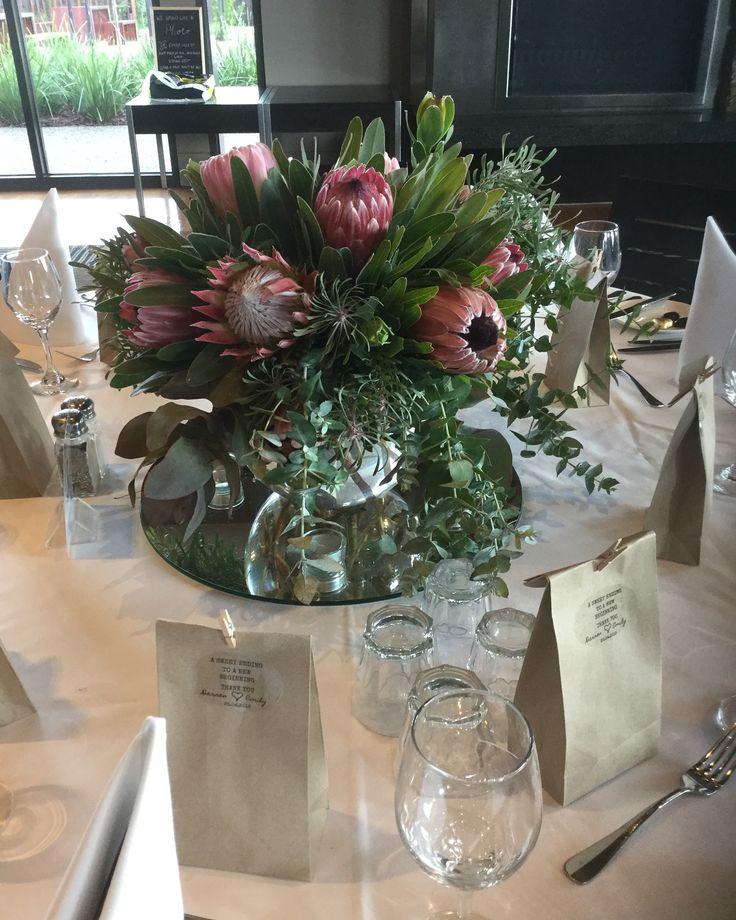 Protea Bowls Wedding Centrepieces at Peninsula Wild Flower