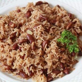 riz collé avec pois