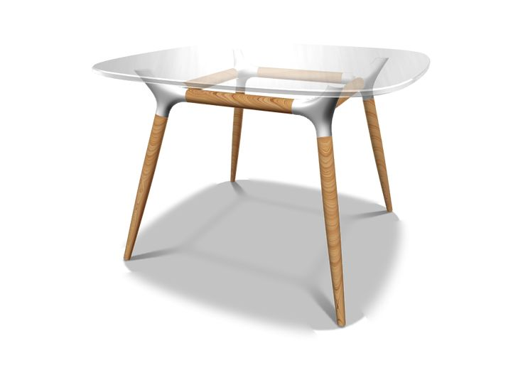 Design glass table project - a 3D model created with VECTARY - the free online 3D modeling tool #3Dprinting