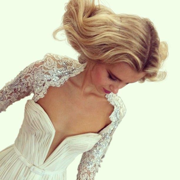 .@jatoncouture | #Vintage J'Aton gown Amazing Hair by @Sarah Laidlaw behind the scenes at @Marianne Tone Silveira Correa... | Webstagram