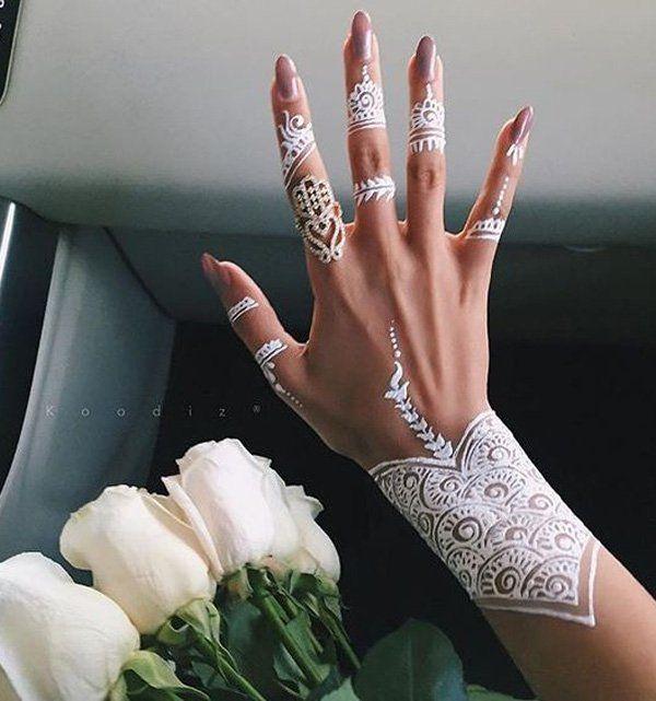 White Henna Design - 25 Amazing White Henna Designs