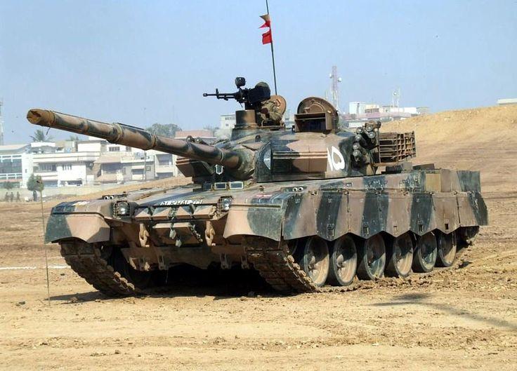 Pakistani Al-Khalid main battle tank.