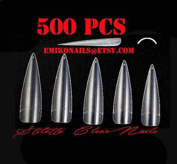 DISCOUNT Best deal FULL COVER  500 False NailsLong by emikonails