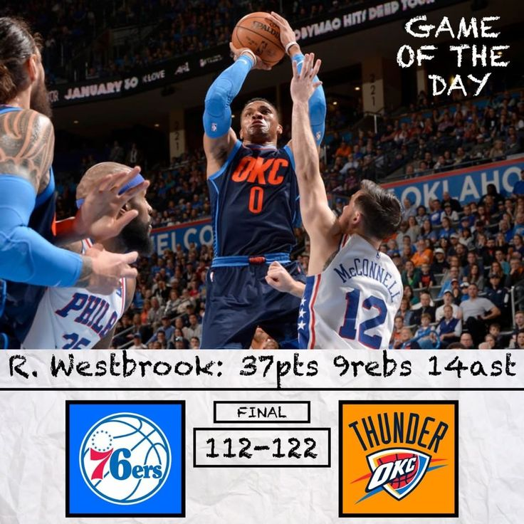 Game of the Day: Sixers vs Thunder. Is Russell Westbrook the best PG in the league? Comment and Read Below  .-.-.-.-.-.- For those that didnt watch the game please dont hate. The score did not reflect the tightness of the game. As a Sixers fan this loss stung a little bit. Just like the Memphis game we were picking up a little steam and then we crumbled. But unlike Memphis this wasnt a loss to a bad team we played a very good team at home and competed well. For the Sixers Robert Covington…