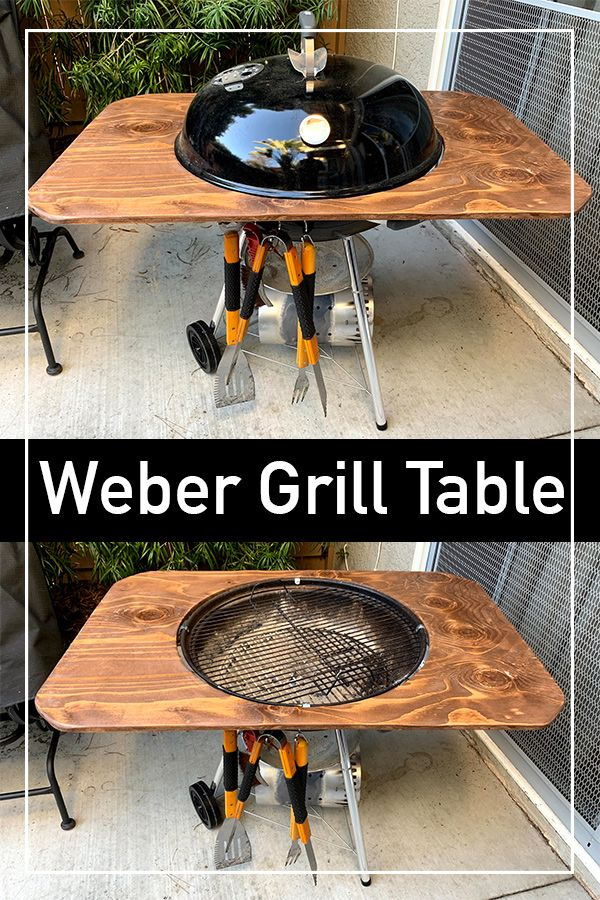 Pin By Carefully Clever On Diy Weber Grill Table Grill Table