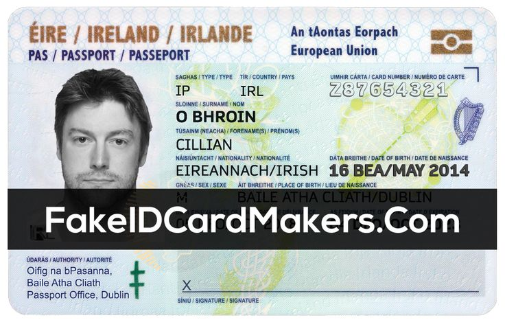 Ireland Id Card Template Psd Irish Proof Of Identity With Regard To Blank Social Security Card Tem Id Card Template Business Card Template Word Card Template