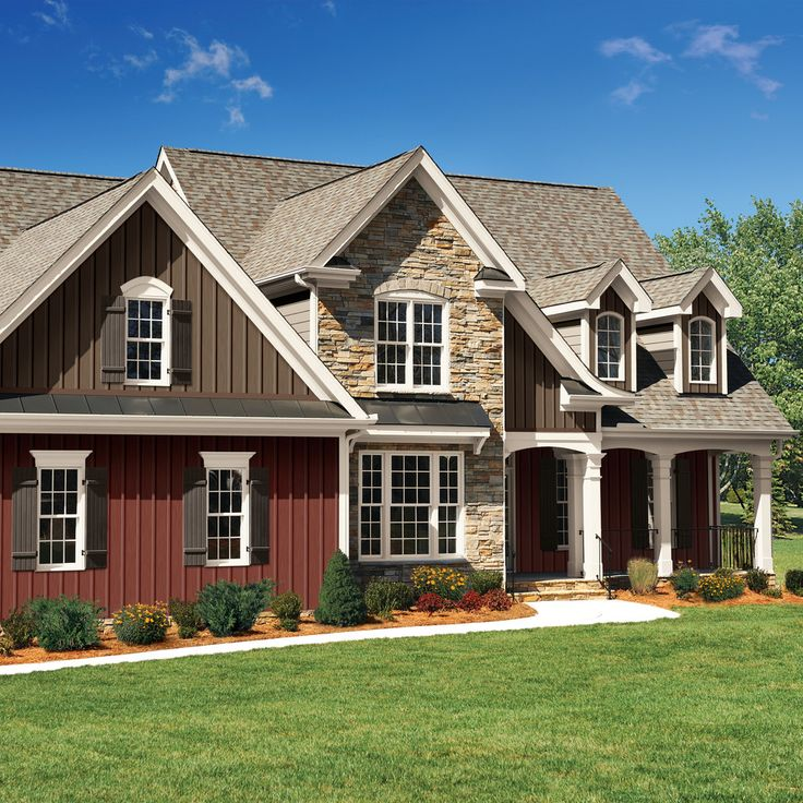 board and batten siding Exterior Traditional with board