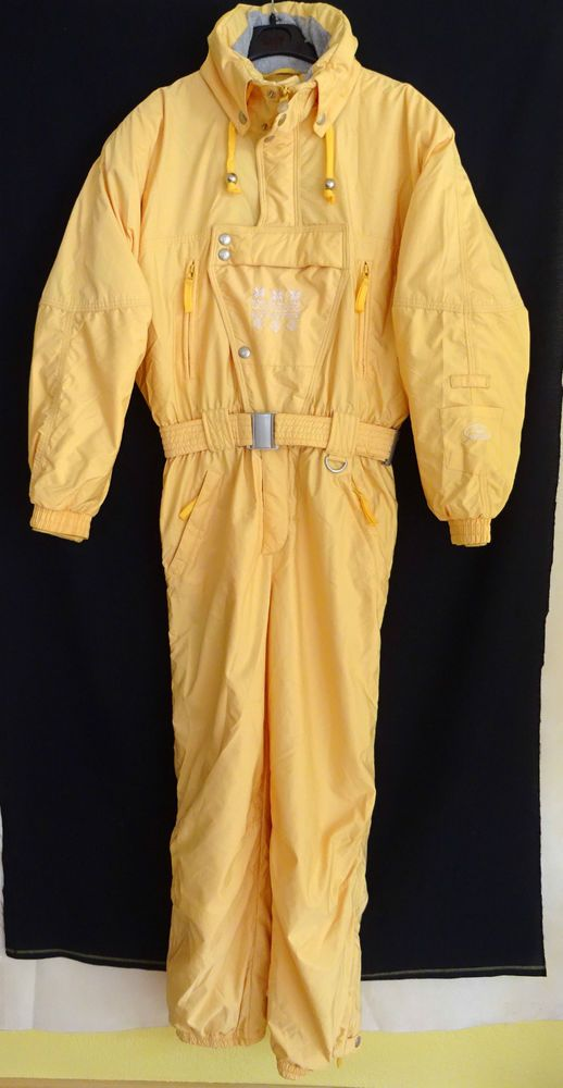Vintage SKI SUIT DorroteNNis Size 38 UK Medium Top Quality LADIES Pastel Yellow in Sporting Goods, Skiing & Snowboarding, Clothing, Hats & Gloves | eBay
